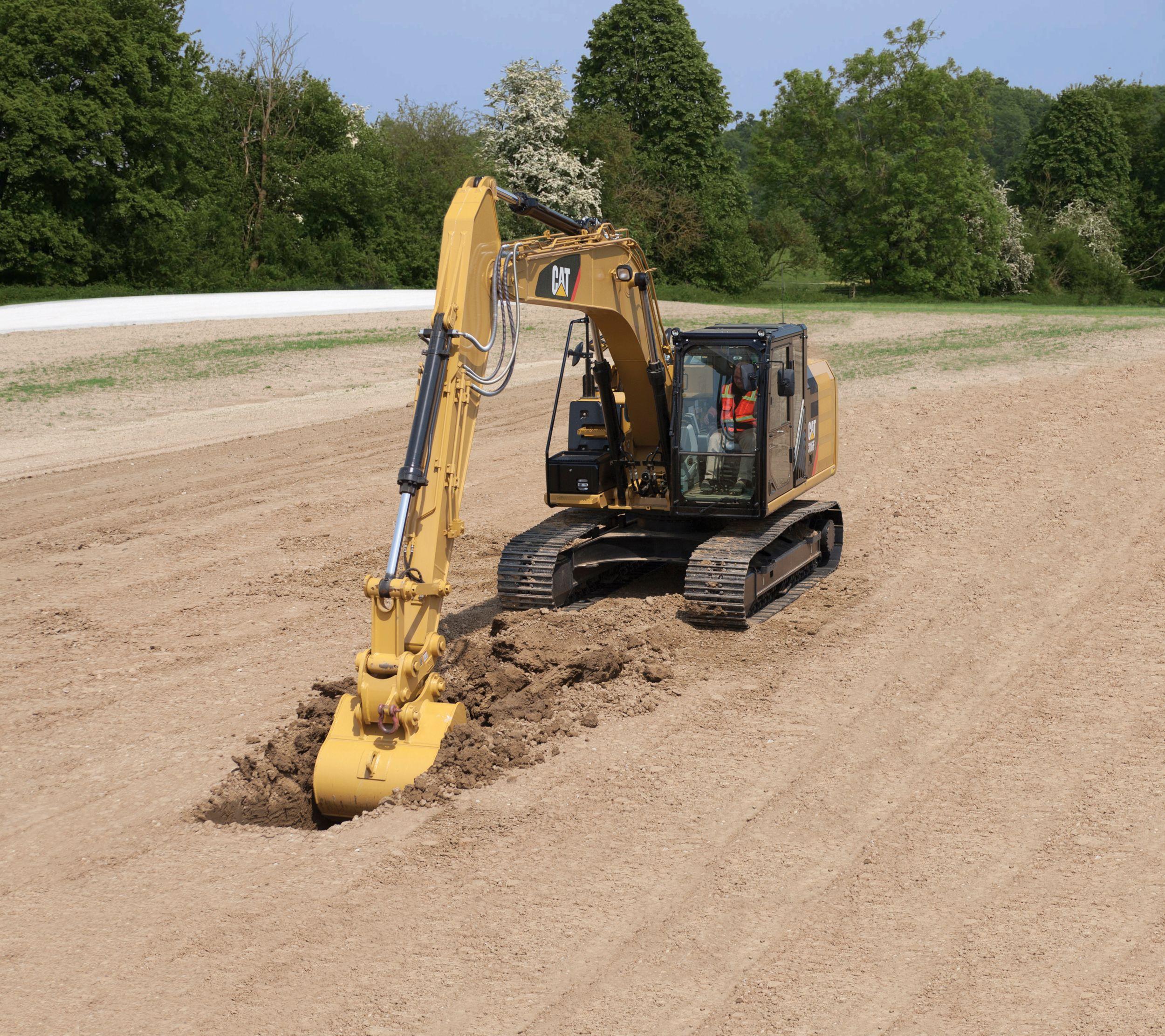 316F L Hydraulic Excavator digging>