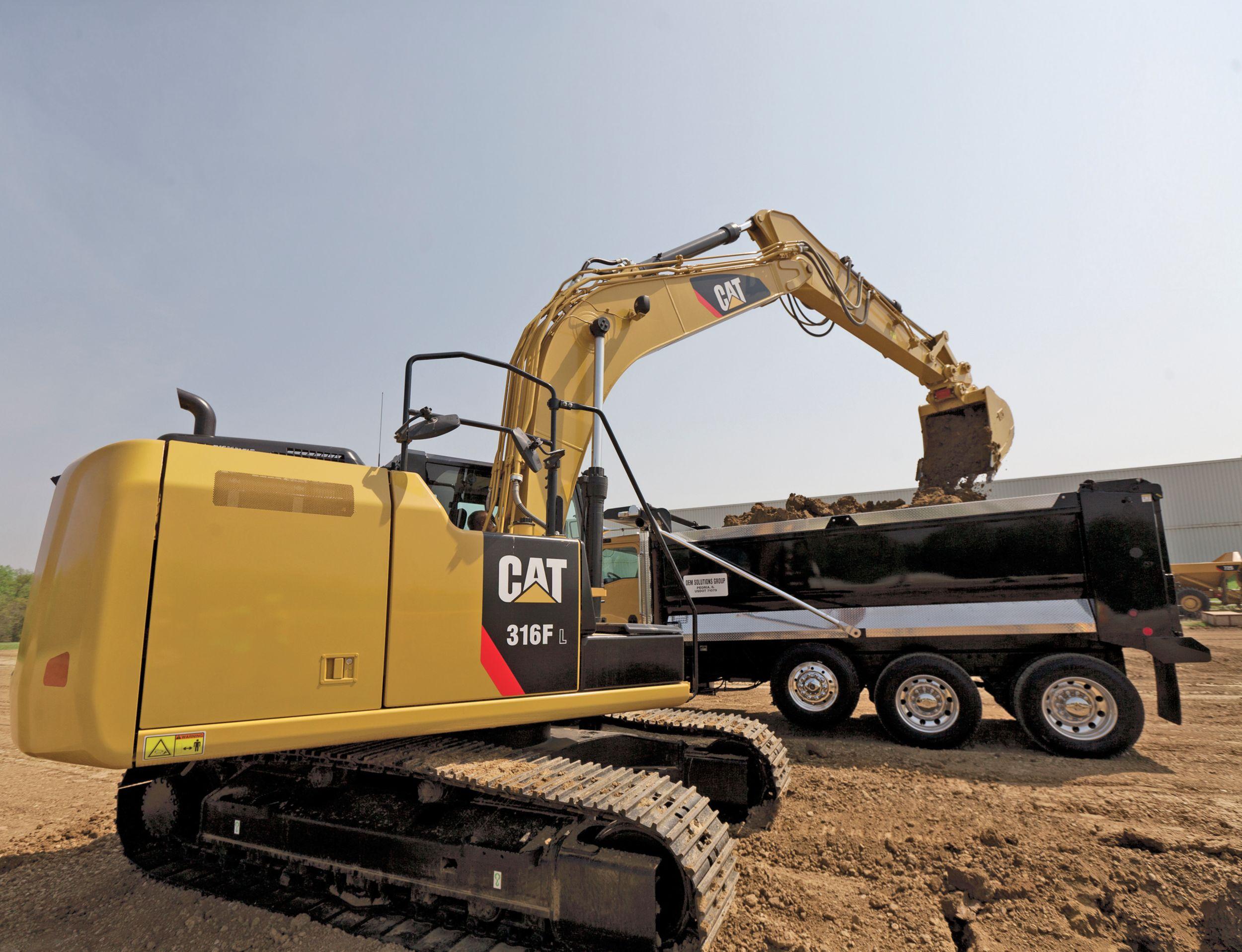 316F L Hydraulic Excavator truck loading>