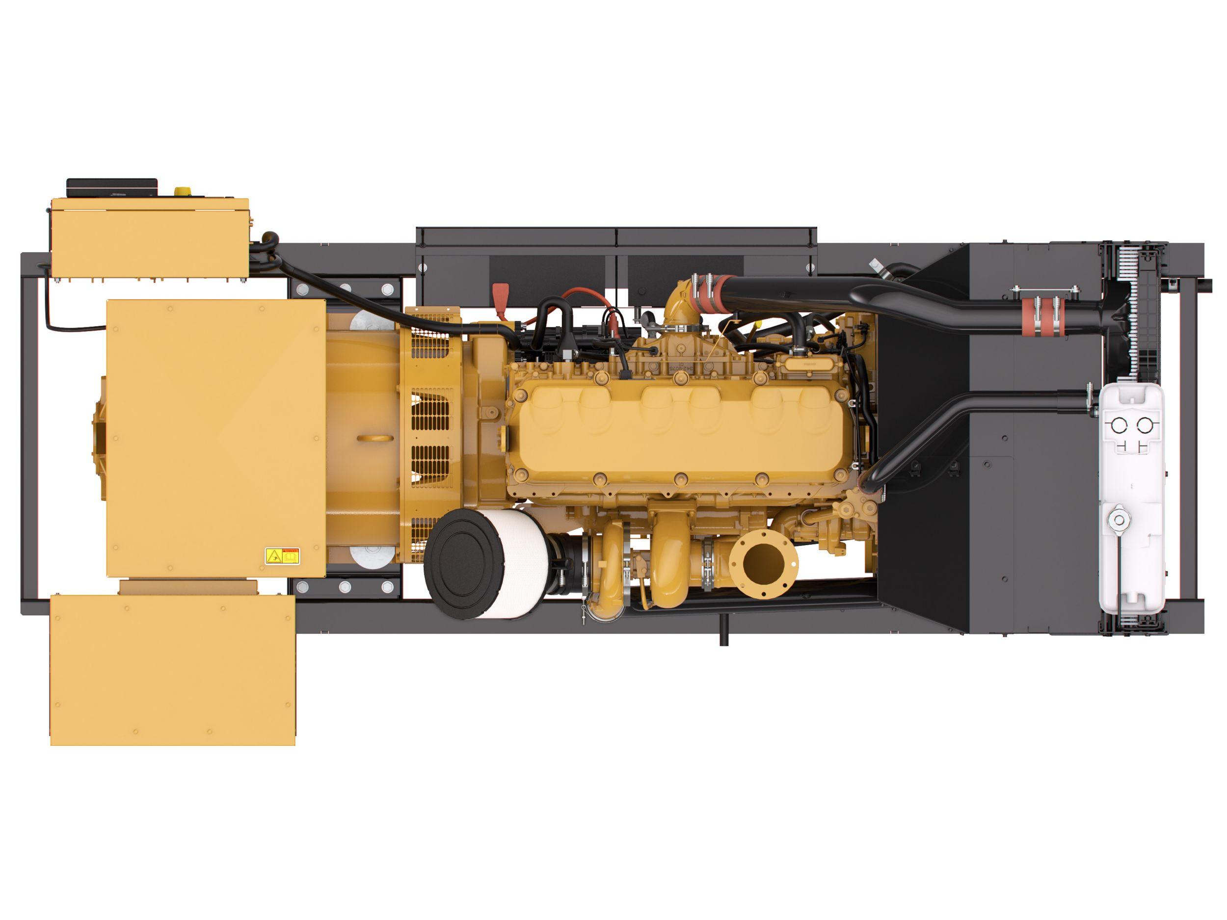 Parte superior del Grupo Electrógeno Diésel C13 NACD