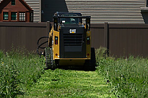 Cat® BR172 Brushcutter in a Landscaping Application