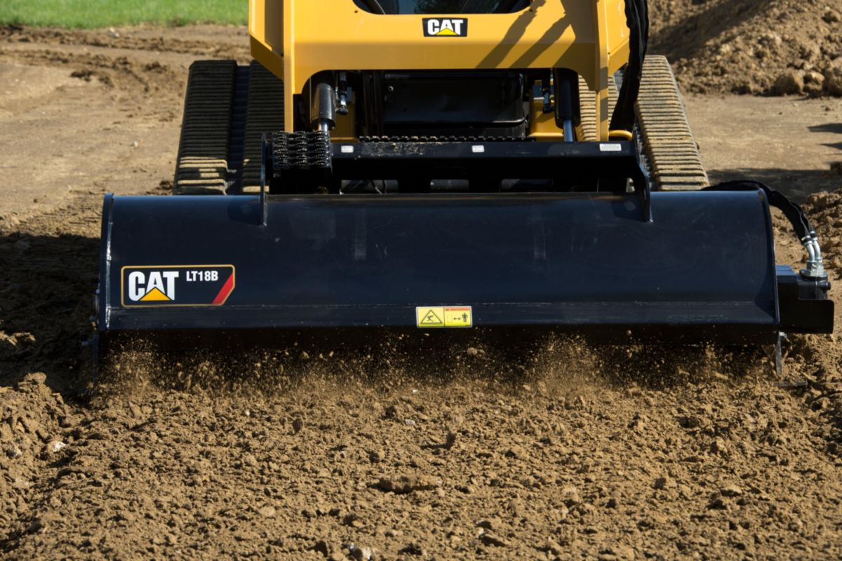 Cat® LT18B Landscape Tiller at Work