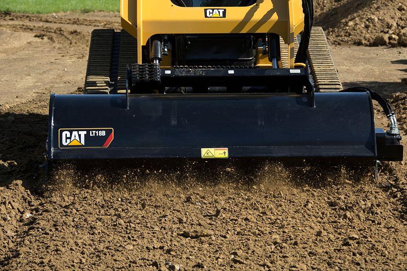 Cat® LT18B Landscape Tiller at Work