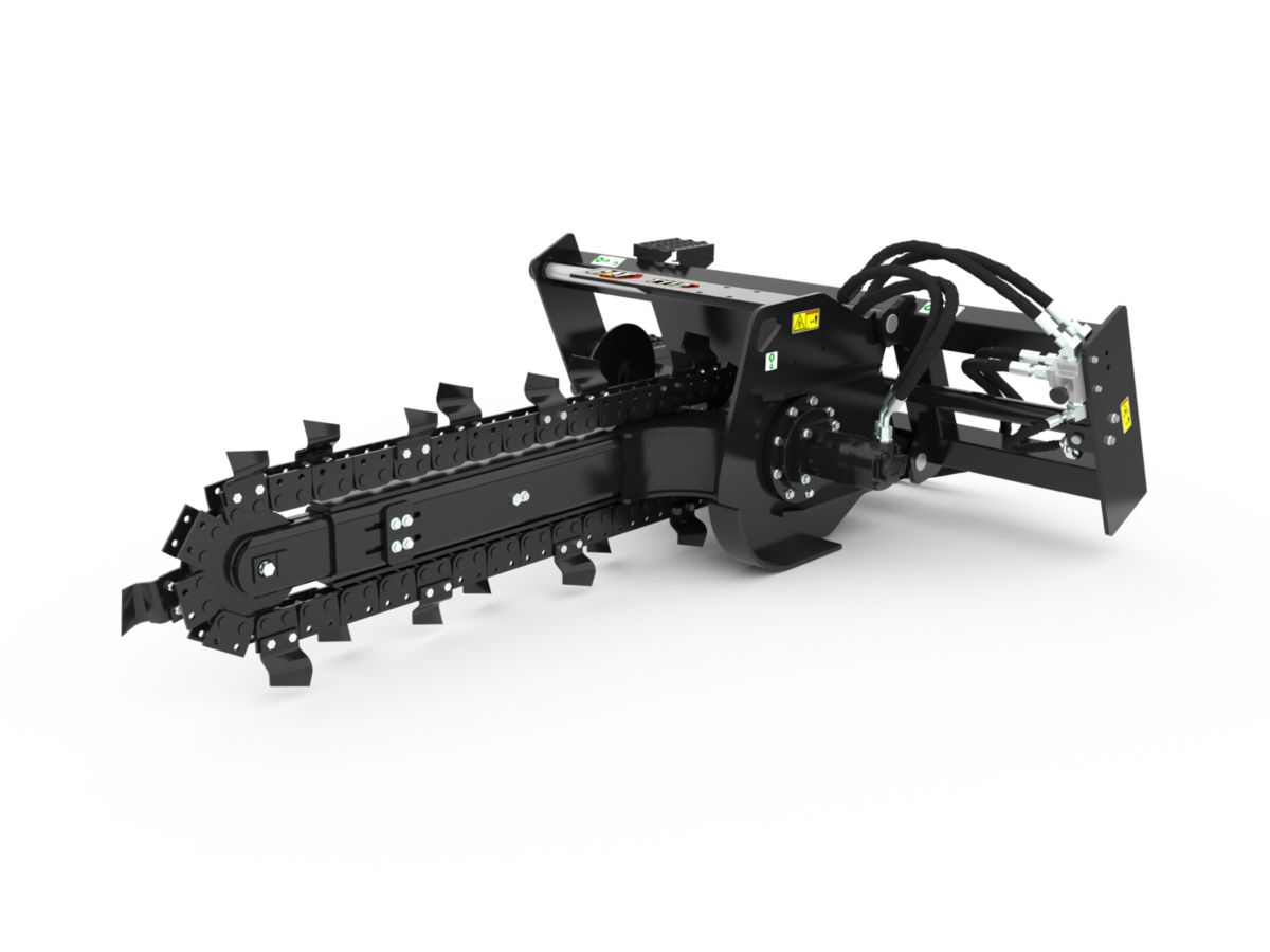 T9B Hydraulic Trencher with standard teeth