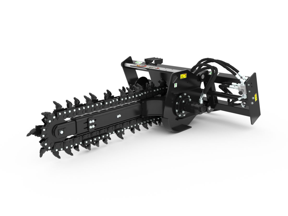 T9B Hydraulic Trencher with rockfrost teeth