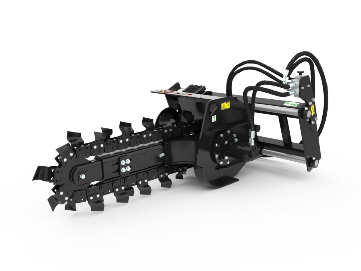 T6B Hydraulic Trencher with standard teeth