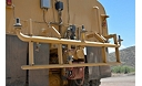 Water Delivery System spray bar view on a water truck at the Tuscon Proving Ground (TPG)