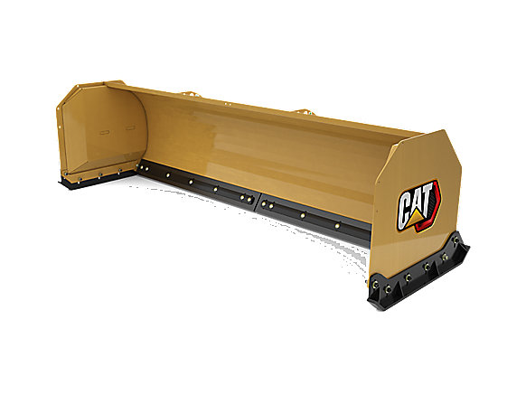 3.2 m (10 ft) Straight Snow Push with rubber cutting edge