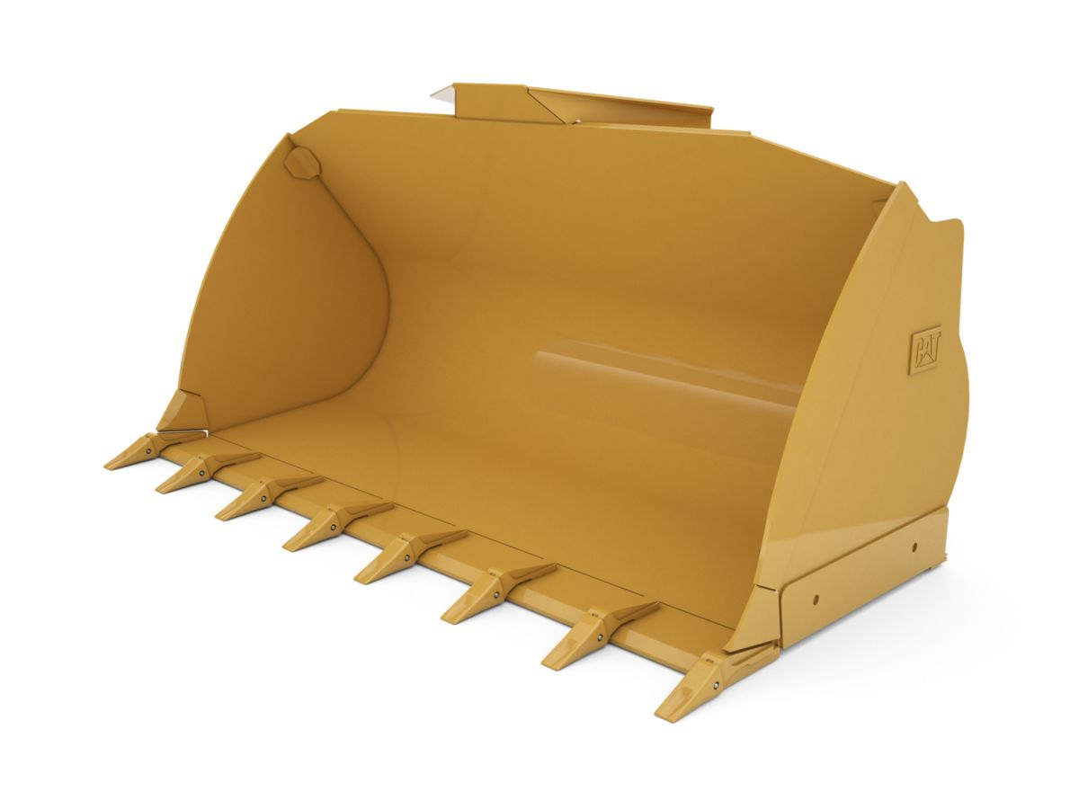 2.9 m3 (3.8 yd3) Pin On Flat Floor Bucket with welded on teeth
