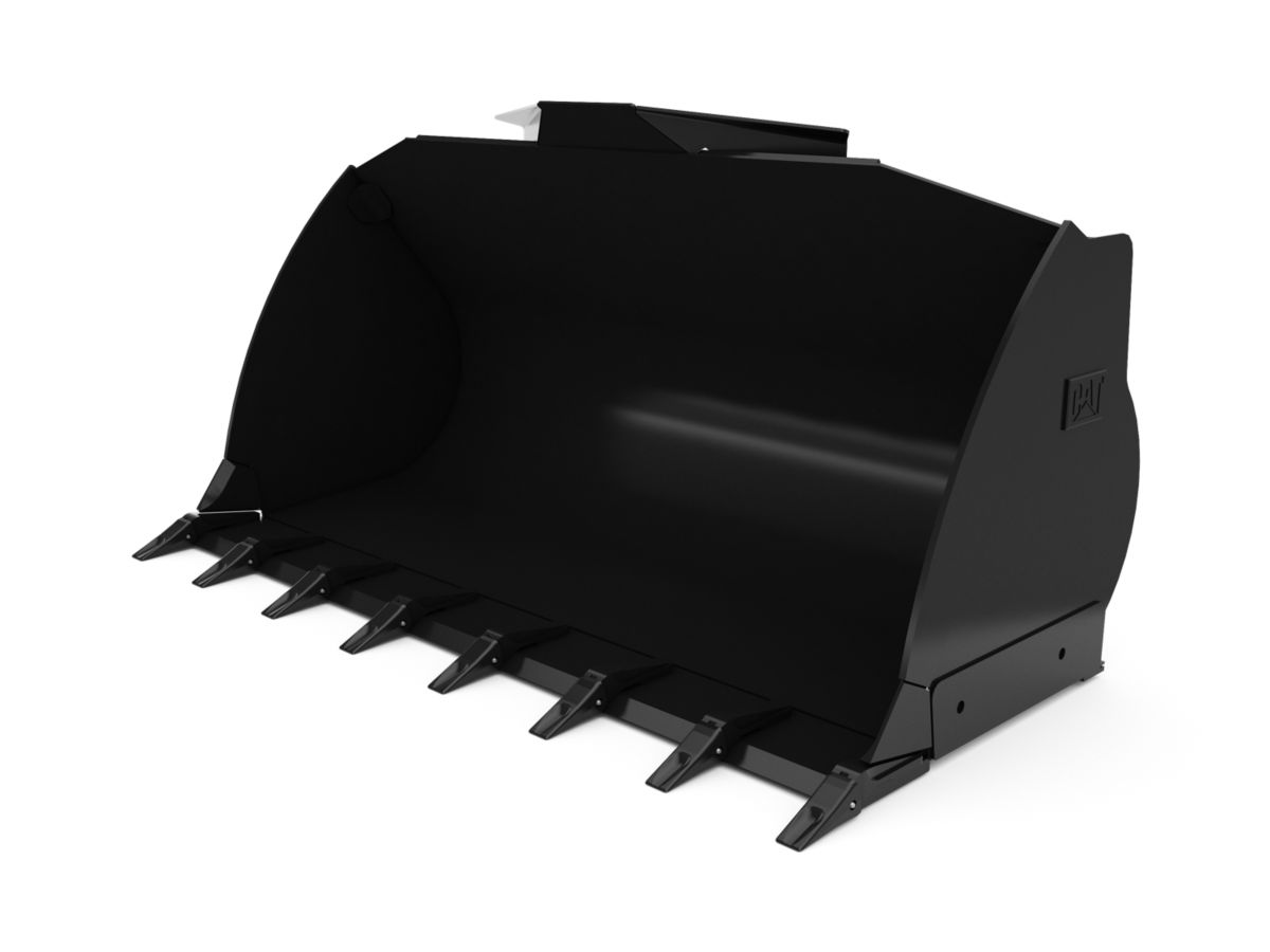 2.3 m3 (3.0 yd3) ISO Coupler Flat Floor Bucket with welded on teeth