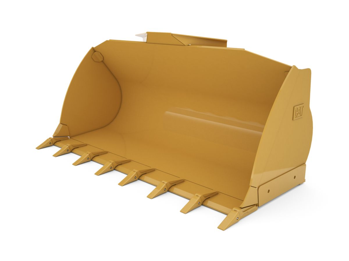 2.5 m3 (3.2 yd3) Pin On Flat Floor Bucket with welded on teeth