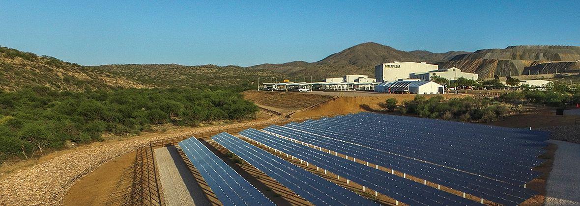 Cat Renewable Energy Microgrids Solar Panels