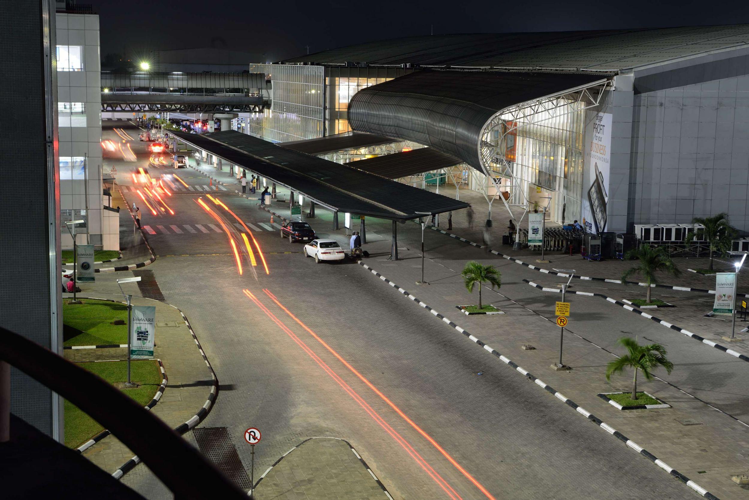Murtala Muhammed International Airport in Lagos, Nigeria