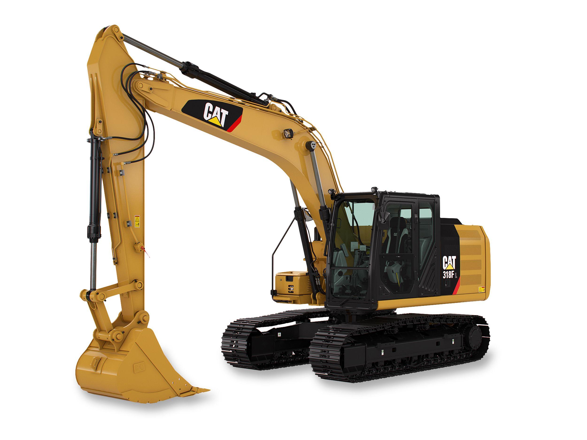 318F L Hydraulic Excavator marketing ready geometry