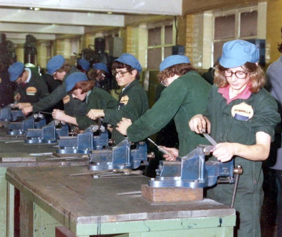 Caterpillar Employees working in the United Kingdom, ca. 1970.