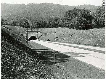 Tunnel entering the Pennsylvania Turnpike, 1940