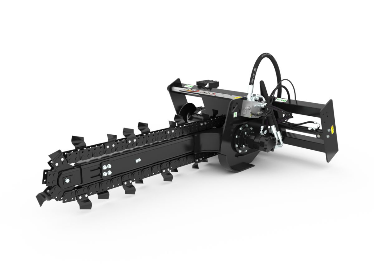T15B High Flow Trencher with standard teeth