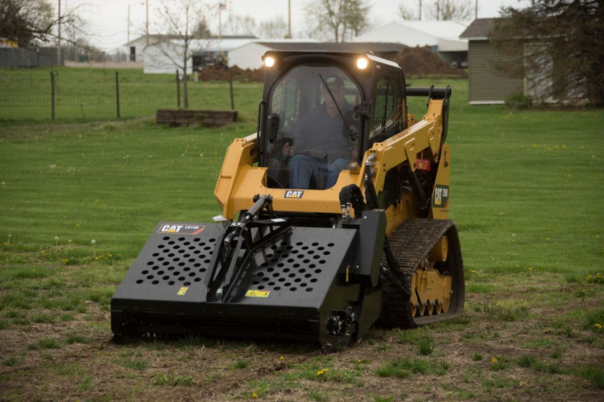 product-Cat® Landscape Rake on a 259D Compact Track Loader