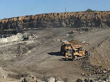 Cat® equipment at work at Eagle River Coal mine site.