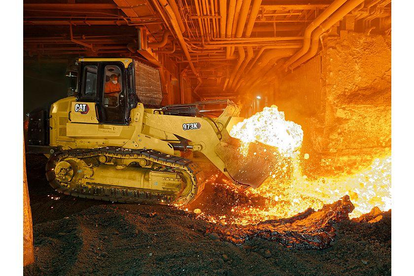 973K Track Loader – Steel Mill Configuration