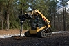 Cat� A26B Auger at Work on a 277D Multi Terrain Loader