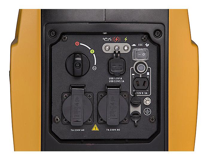 Pannello di controllo di INV2000 chiuso