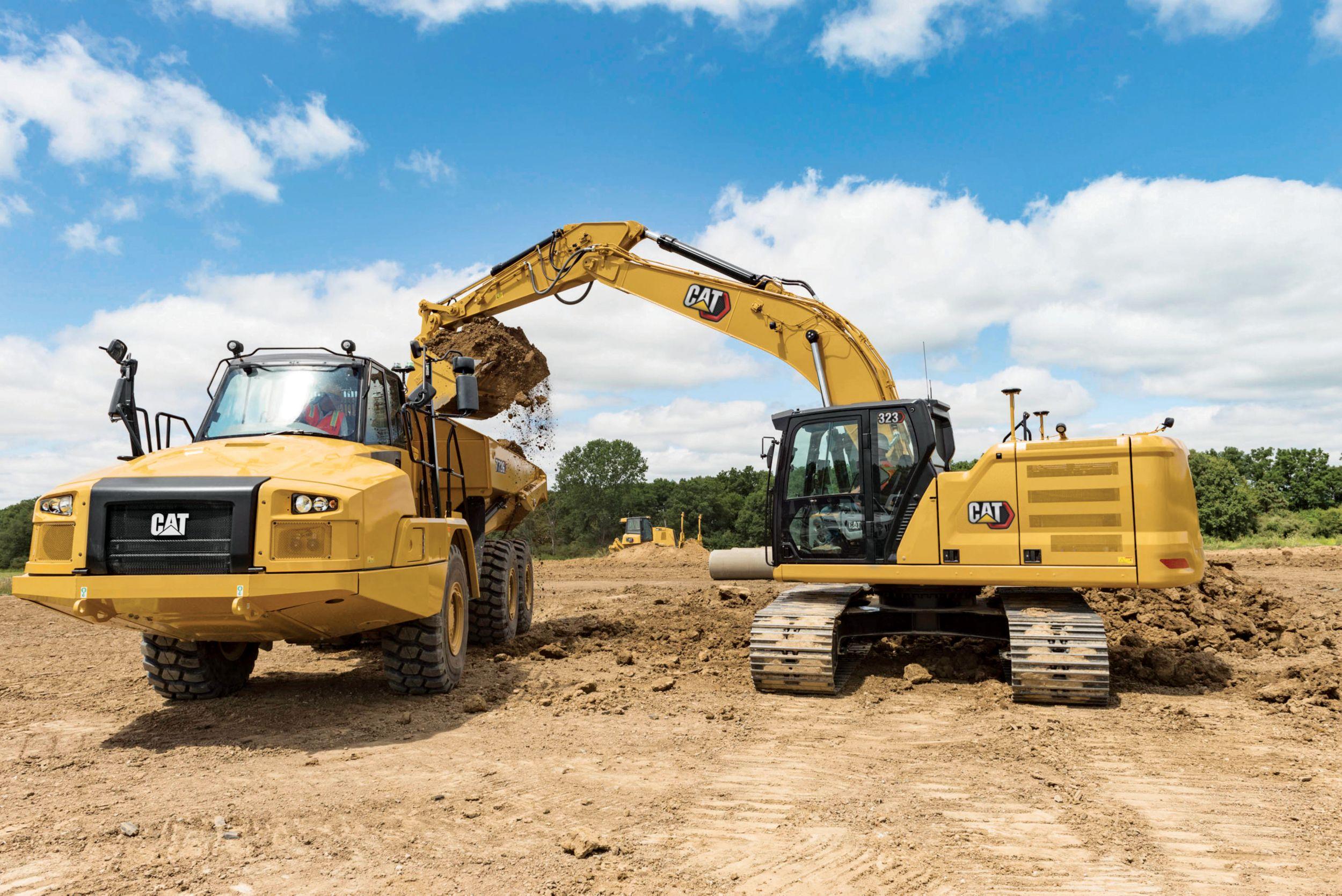 Excavadora Hidráulica Mediana 323