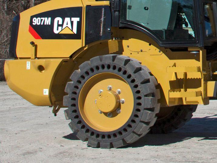 compact wheel loader flexport tires