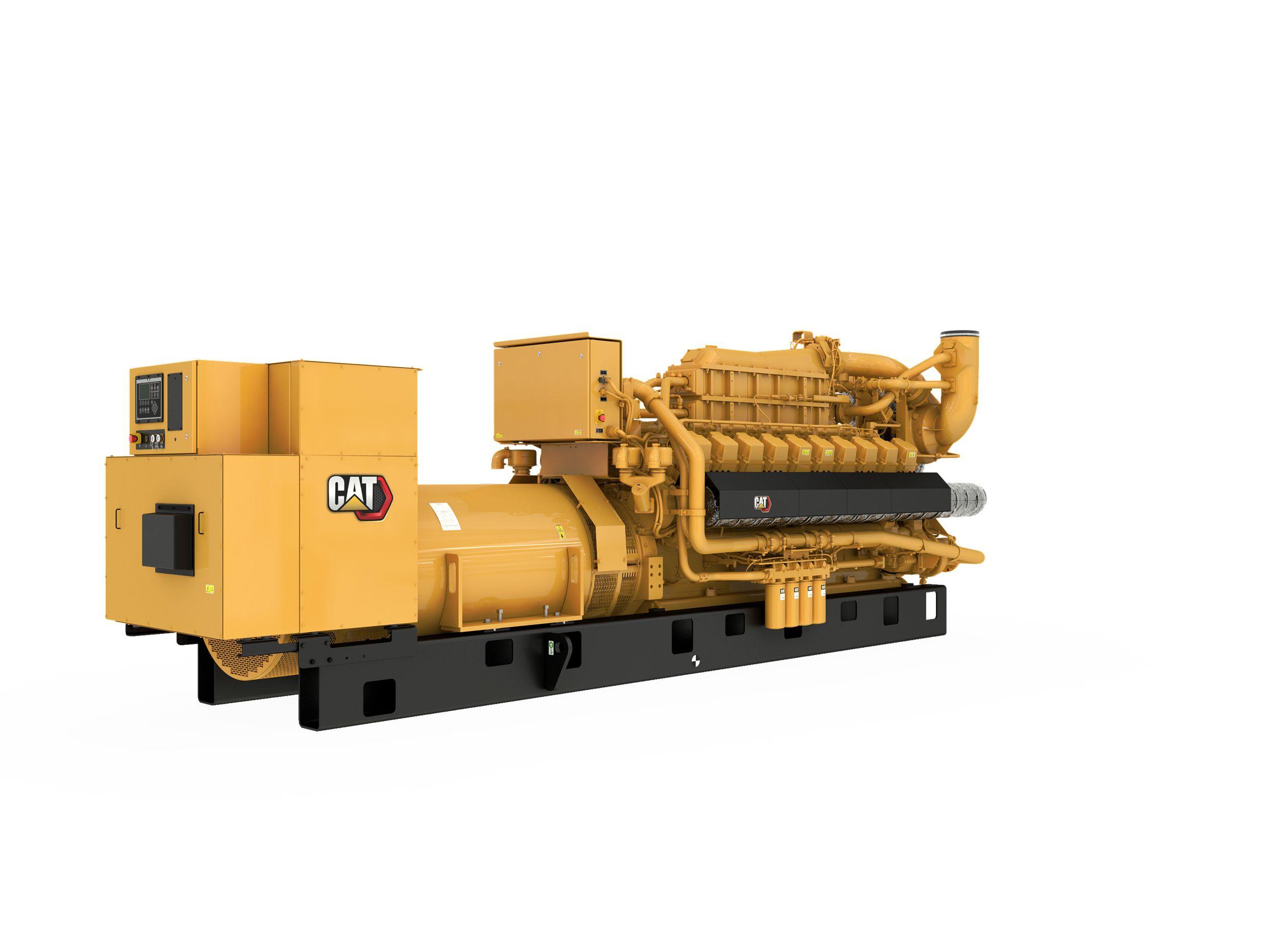 G3520E Gas Generator Sets Rear Right