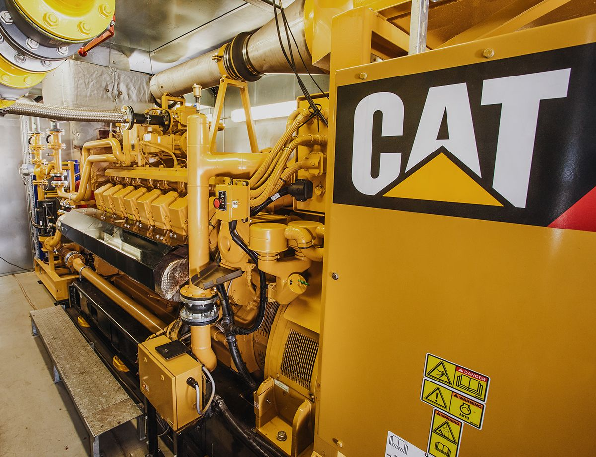Cat® gensets increased efficiency of cogeneration system