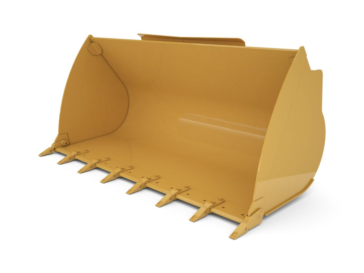 1.8 m3 (2.4 yd3) Pin On General Purpose Bucket - Performance Series With Bolt-On Teeth