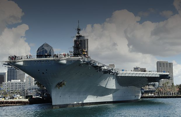 Gensets provide temporary power for the USS Midway museum