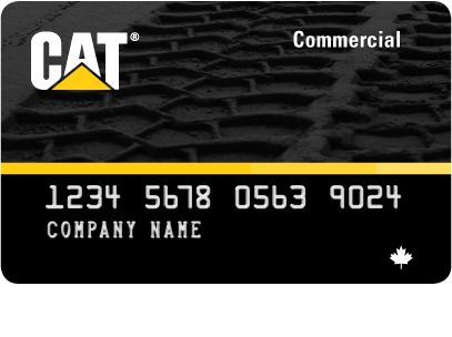 Rendering of the New Cat Commercial Card (Revolving Account Card)