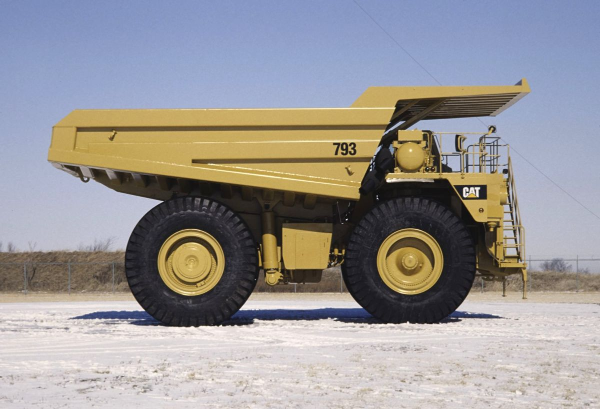 ... Cat® 793 Off-Highway Mining Haul Truck (circa 1991) ...