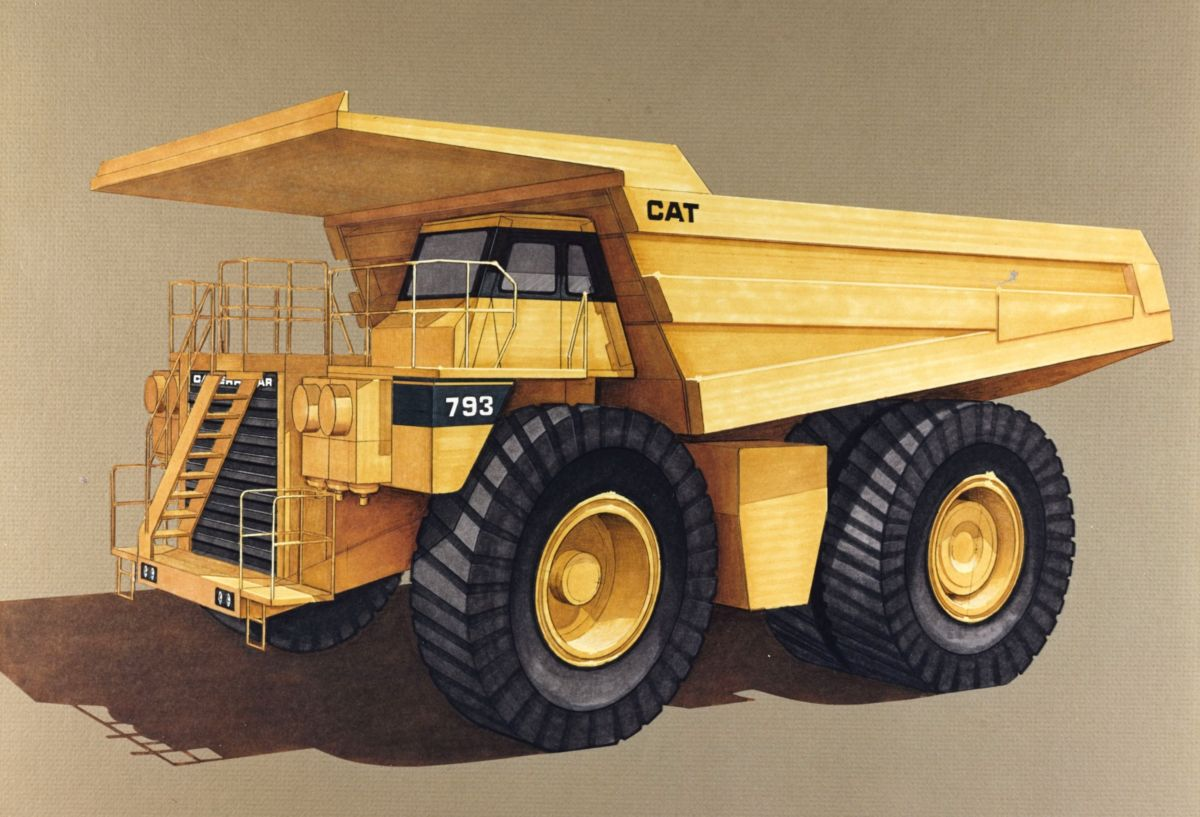 ... Cat® 793 Off-Highway Mining Haul Truck (circa 1991)