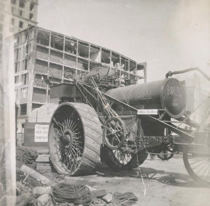 Best steam tractor No.188 at work during earthquake recovery in 1906.