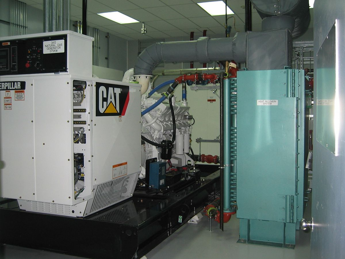 Generator waste heat increases efficiency from 35 to 70 percent