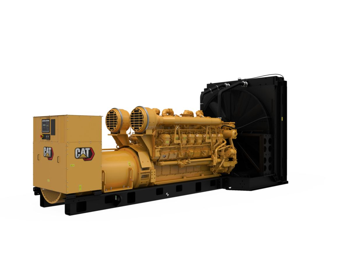 3516B Diesel Generator Sets Rear Right