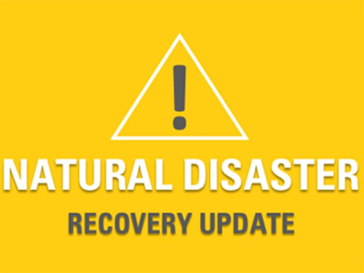 Natural Disaster Recovery Update