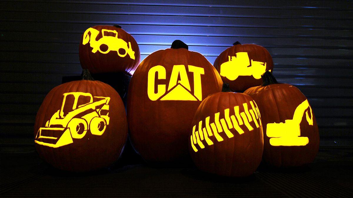 Pumpkin Carving Template Cat Caterpillar