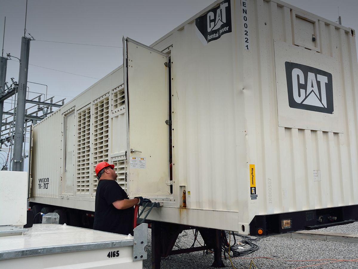 XQ2000 generator set helps restore power to hurricane-battered region