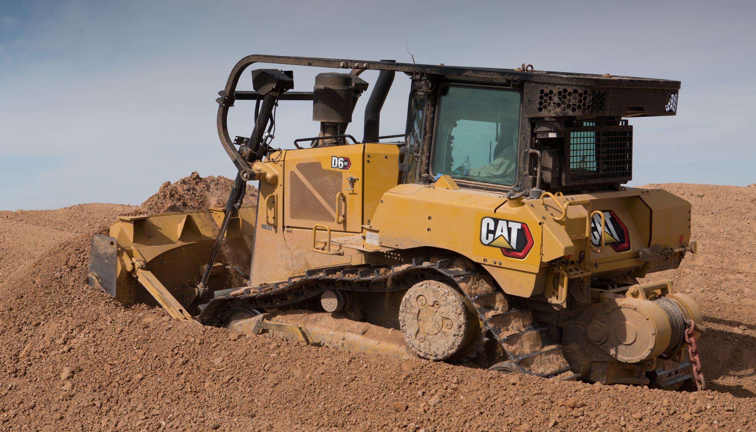 Cat® D6 XE dozer.