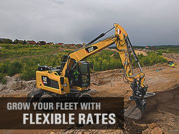 Easily acquire your Cat® machines with competitive rates