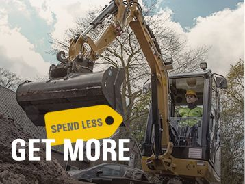 0% for 48 Months or Up to $5,000 Cash Back on a New CAT® Mini Excavator