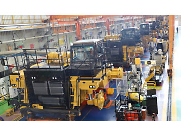 Off-highway truck assembly at our Thiruvallur facility.
