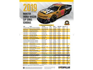 2019 NASCAR Schedule