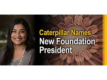Caterpillar Names New Foundation President - Asha Varghese