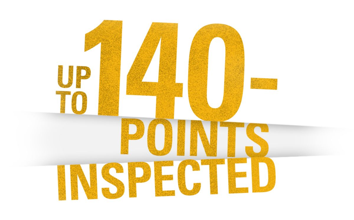 Up to 140-Points Inspected