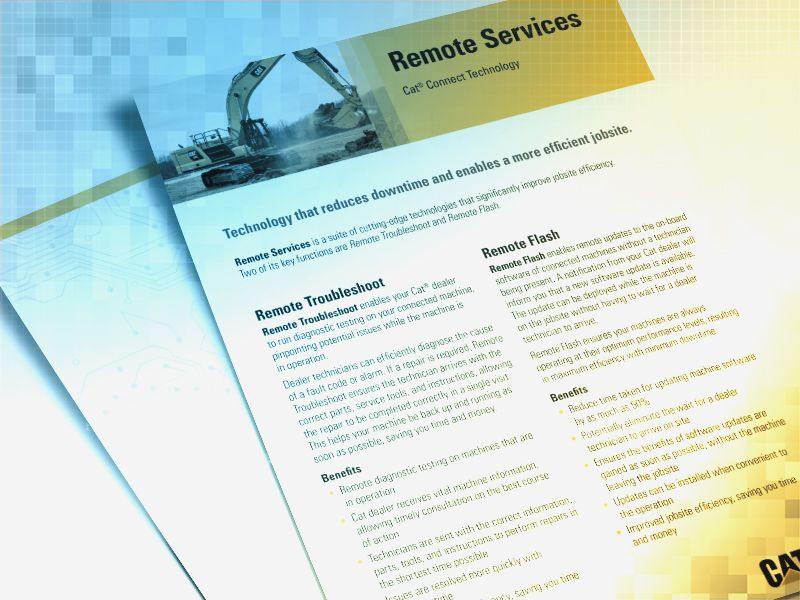 Cat | Remote Services – Flash & Troubleshoot | Caterpillar