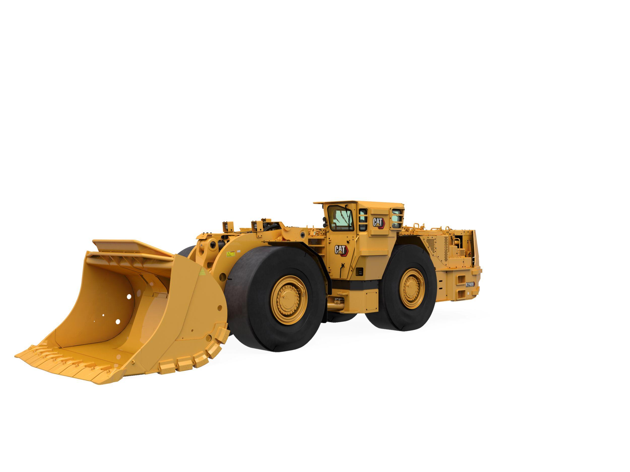 Fotografía del Cargadoras de transporte y descarga (LHD, Load-Haul-Dump) de minería subterránea