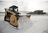 Cat® 289D Compact Track Loader and Snow Push at work in Colorado.